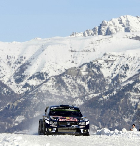 Sebastien Ogier (FRA) competes during the FIA World Rally Championship 2016 in Monte Carlo, Monaco on January 23, 2016