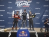 Patrick Sandell, Steve Arpin, and Tanner Foust win at Red Bull Global Rallycross in Dallas, Texas on June 4, 2016