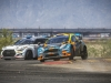 (L-R) Rhys Millen and Austin Dyne race at Round 2 of Red Bull Global Rallycross at Wild Horse Pass Motorsports Park in Phoenix, Arizona, USA on March 22, 2016