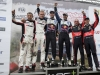 Ott Tanak (EST), Andreas Mikkelsen (NOR), Hayen Paddon (NZL) celebrate the podium during  FIA World Rally Championship 2016 Poland in Mikolajki, Poland on July 3, 2016