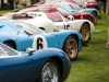 Cars lined up at Pebble Beach Concours d'Elegance
