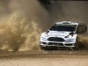 Elfyn Evans performs during the FIA World Rally Championship 2015 in Coffs Harbour, Australia on September 12, 2015