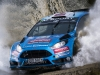 Mads Ostberg (NOR) performs during FIA World Rally Championship in Deeside, Great Britain on 28  October 2016