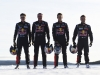 Sebastien Loeb , Kevin Hansen , Timmy Hansen, Davy Jeanney pose for a portrait during Rallycross on Ice 2016 Sweden in Are, Sweden on 16 February 2016