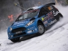 Elfyn Evans (GBR) performs during during the FIA World Rally Championship 2016 in Karlstad, Sweden on February 12, 2016