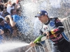 Andreas Mikkelsen (NOR) celebrates the podium during the FIA World Rally Championship Australia 2016 in Coffs Harbour on November 19, 2016