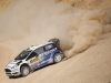 Elfyn Evans performs during the FIA World Rally Championship 2015 in Salou, Spain on October 23, 2015